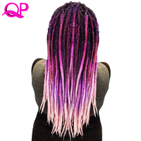 Qp Hair One PCS Dreadlocks Hair Crochet Marley Handwork Hair Kanekalon Crochet Braiding Synthetic Hair