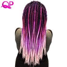 hot deal buy qp hair one pcs dreadlocks hair crochet marley handwork hair kanekalon crochet braiding synthetic hair