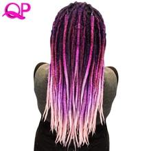 Qp Hair one PCS Dreadlocks Crochet Marley Handwork Kanekalon Braiding Synthetic