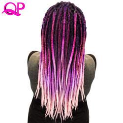 Qp волосы 1 шт. дреды 5 Стенд вязаный крючком марли ручная работа волосы канекалон вязаный крючком плетение синтетические волосы