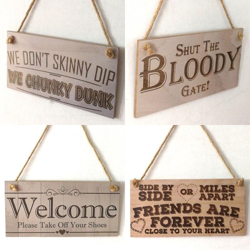 Buy Wall Door Hanging Wooden Plaques Welcome Sign Plaque Board Home Garden