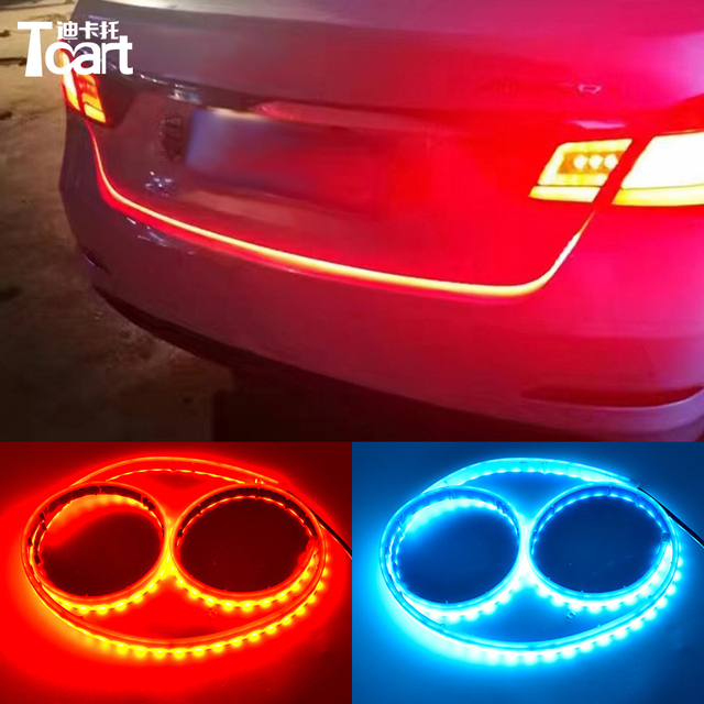 Tcart red and iceblue brake light For hyundai Accent Solaris 2011 2012 car led lights car tail strip light