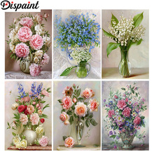Dispaint Full Square/Round Drill 5D DIY Diamond Painting Flower landscape 3D Embroidery Cross Stitch Home Decor Gift