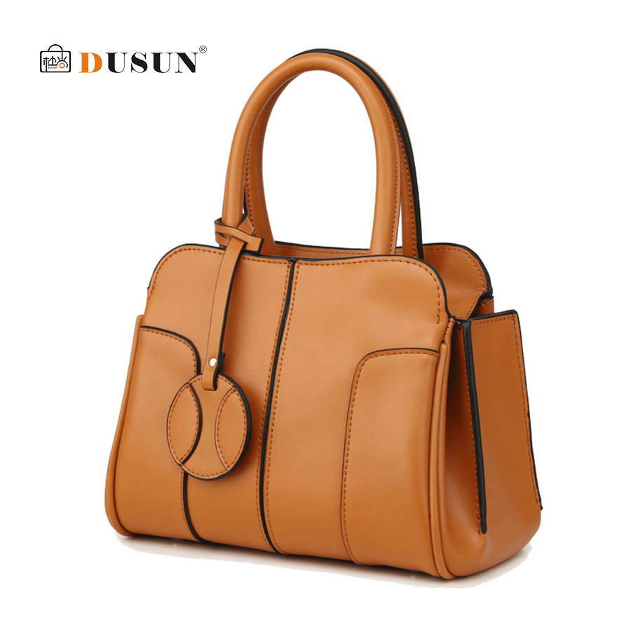 DUSUN Ladies Genuine Leather Handbag Women's Handbags Shoulder Bags Women Bag Hign Quality Designer Luxury Brand Totes Bag Bolsa dusun 2016 new women handbag genuine leather women bag luxury brand high quality bag casual tote women handbags bolsa feminina