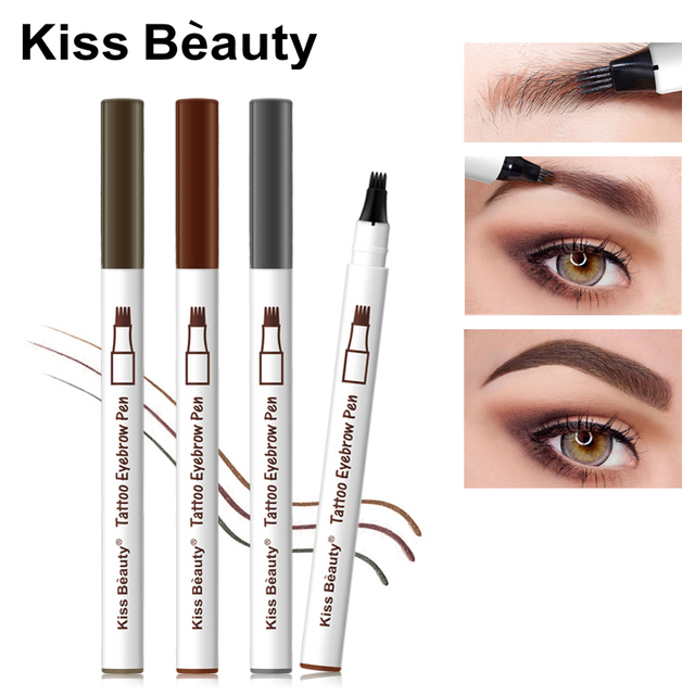Kiss Beauty Microblading Eyebrow Tattoo Pencil 3 Colors Wenkbrauw