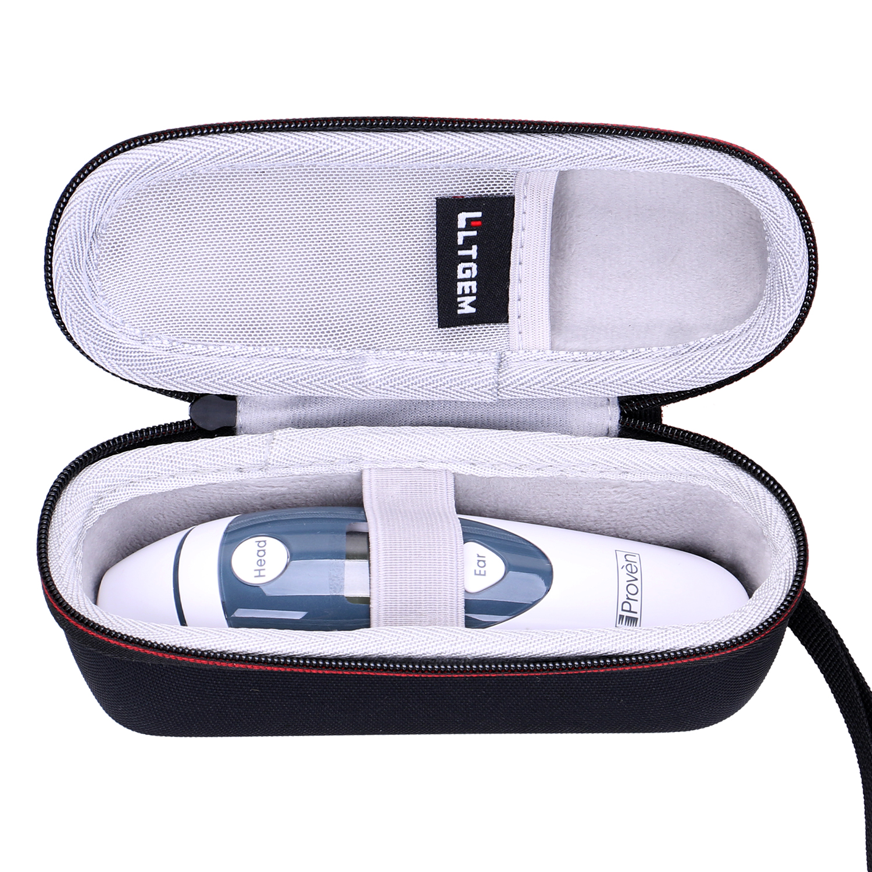 LTGEM EVA Shockproof Waterproof Carrying Hard Case For Fits IProven DMT-489 Ear Thermometer