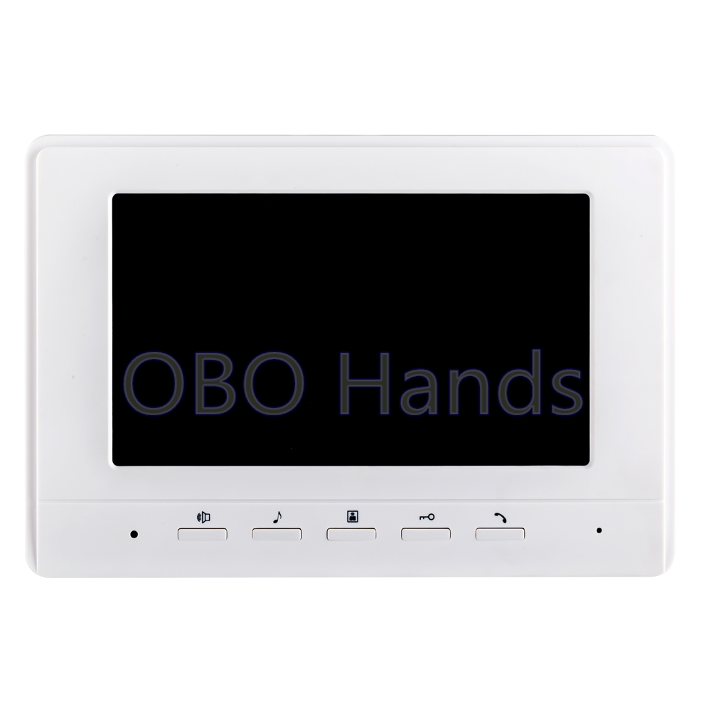 ФОТО Free Shipping 7 inch TFT LCD Color Video Door Phone Intercom System Indoor Unit Monitor Without Outdoor Unit Camera