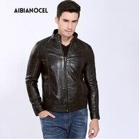 Мужская одежда из искусственной кожи пальто искусственная кожа куртка Мужская Высокое качество теплый ветровка PU куртки кожаные мотоциклетные S-6XL 3 цвета
