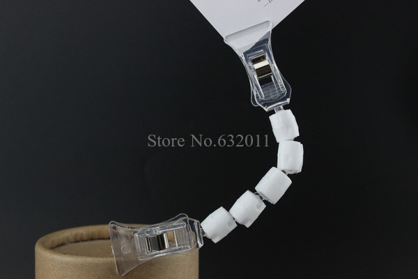 Image 4 - POP price card clamp advertising tag clip label holder adjustable clear plastic sign holder memo note paper photo clip-in Furniture Accessories from Furniture