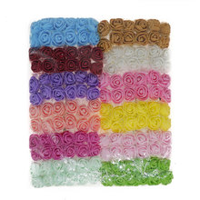 2cm Tiny Mini Foam Rose 144Pcs/Lot Mix Color Silk Flower Heads For Crafting Small Artificial Roses Flowers Home Wedding Decor