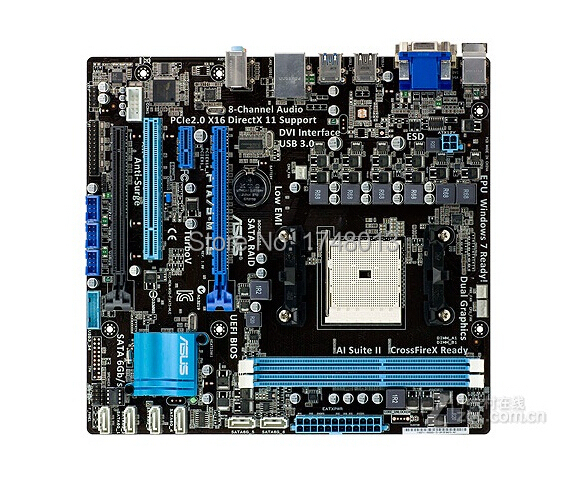 все цены на original motherboard for F1A75-M LE Socket FM1 DDR3 32GB  ATX desktop motherboard онлайн