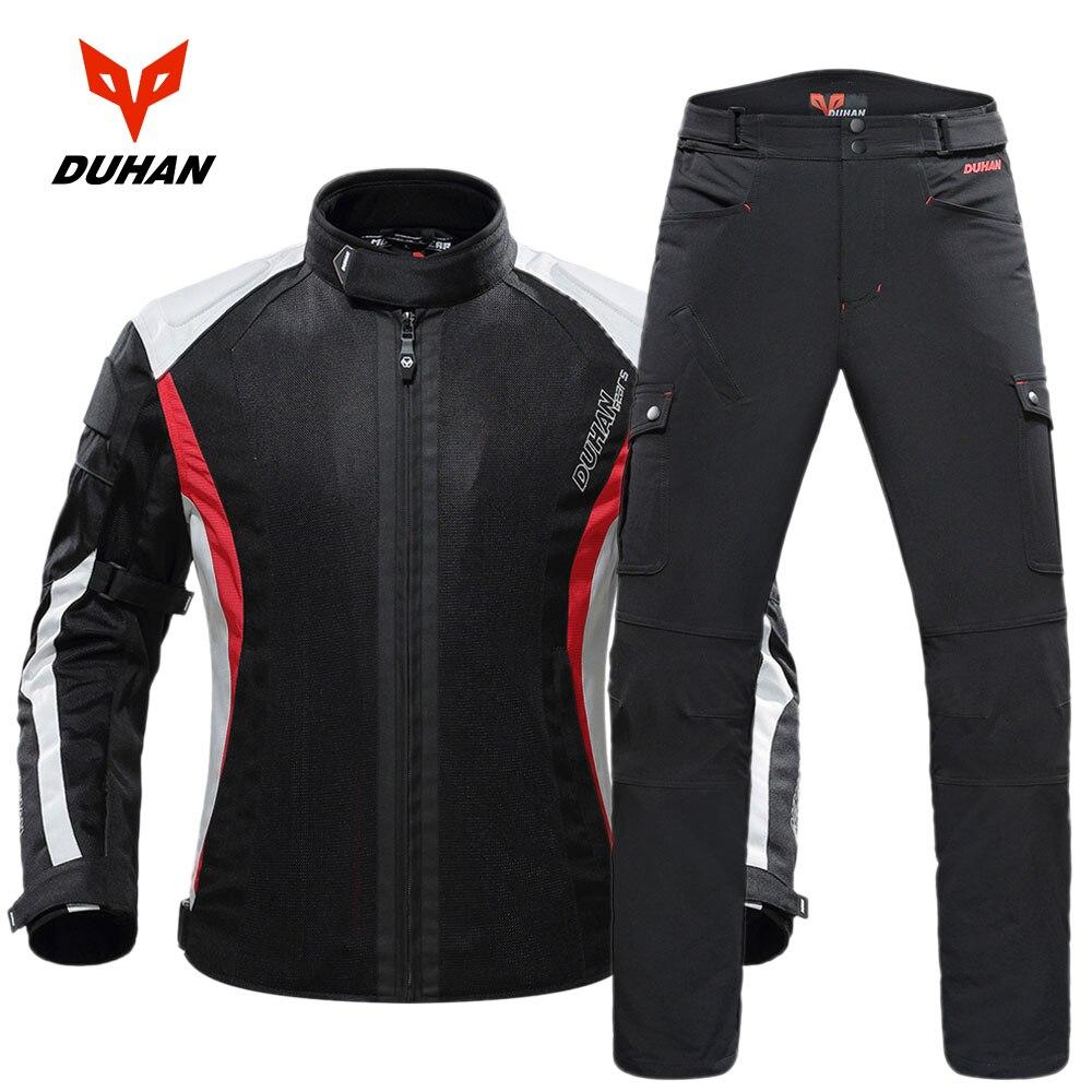DUHAN Moto veste Moto protecteur Moto pantalon hommes Moto costume Touring vêtements vêtements de protection ensemble avec cinq protecteur