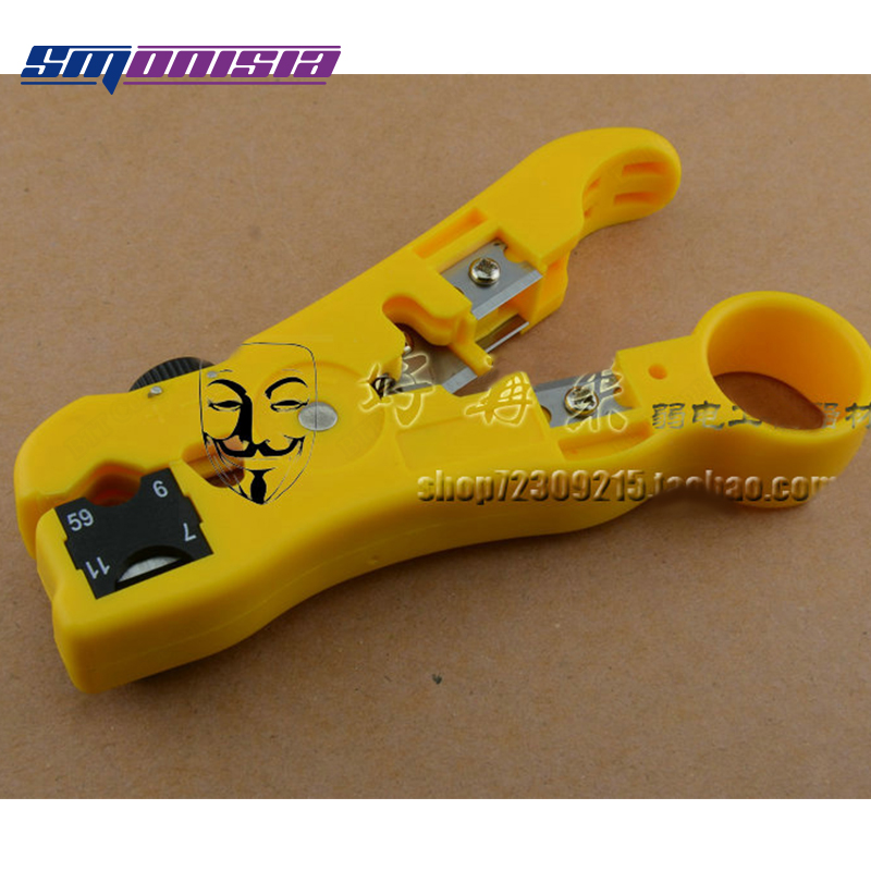 10pcs-100pcs Multifuntional Stripping Knife Coaxial Cable Power Wire Stripper Cut RG6/RG11 -5/-7 fasen tools cx119 cable knife multifunctional wire stripper for stripping the cable insulation layer of 35 300mm