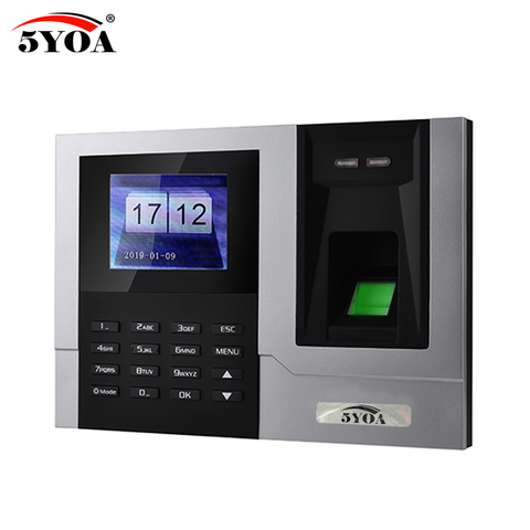 AT608 Tcp IP RJ45 Biometric Fingerprint Time Attendance Clock Recorder Employee Recognition Device Electronic Machine Lahore