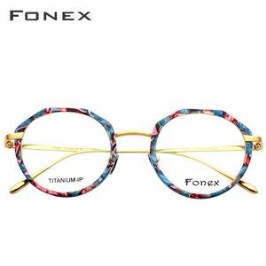 Image 3 - FONEX lunettes rondes multicolores hommes