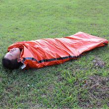SEWS Outdoor Sleeping Bags Portable Emergency Sleeping Bags Light-weight Polyethylene Sleeping Bag for Camping Travel Hiking