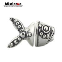 Mistletoe Jewelry Genuine 925 Sterling Silver Goldfish Charm Beads Fit European Troll Bracelet