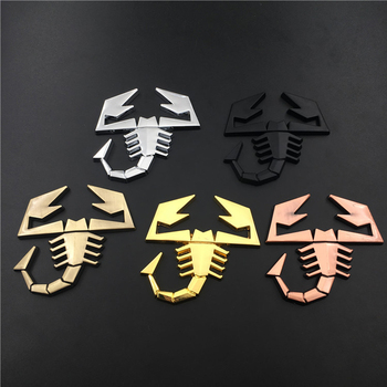 3D Scorpion Logo Automobile Side Car Sticker Metal Badge Exterior Decoration Abarth 500 595 for BMW E39 E60 E90 FIAT 124 131 image