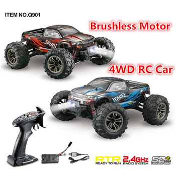 Brushless Motor Professional Remote Control Car 2.4G 4WD 52km/h High Speed Rc Racing Car with LED Light RTR Drift Toys gifts image