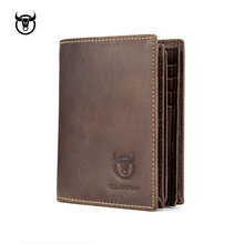 Genuine Leather Men Wallets Vintage Cow Leather Wallet Male Handmade Custom Dollar Price Coin Purse Short Wallet carteira