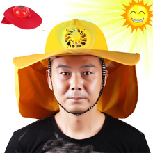Outdoor Solar Energy Fan Visor Hat UV Protection Face Cover Fishing Sun Protcet Cap Sport Camping Breathable Summer Visor Cap