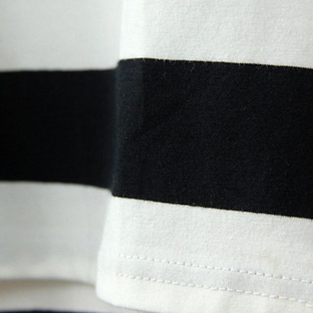 Black And White Stripes Summer Dresses