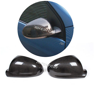 Carbon Fiber car side rear Mirror Covers Caps Fit For Volkswagon VW Golf V MK5 GTI carbon fiber side wing mirror cover caps for volkswagen vw golf mk5 2005 2007