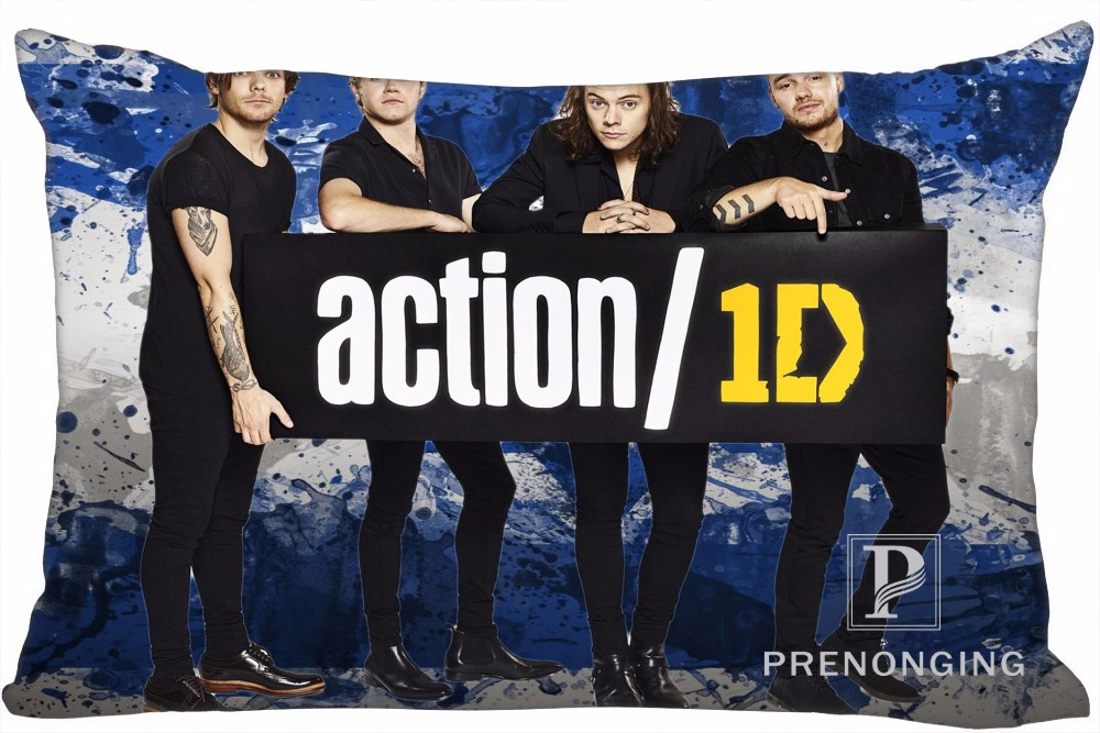 Best Custom Pillow Case One Direction 1D@01 Rectangle Pillowcases zipper 35x45cm (One Side Print) @180117-39