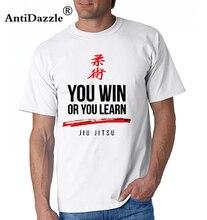 a02fda0ca Party 3D Print T Shirts Men You Win or You Learn Jiu Jitsu O Neck BJJ Easy Tee  Shirt Daily Wear Tops