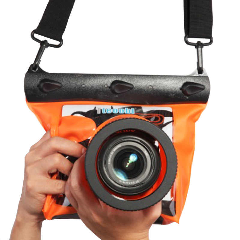 Navitech Waterproof Underwater Housing Camera Dry Bag Case Compatible with The Canon EOS Rebel T6 DSLR Camera