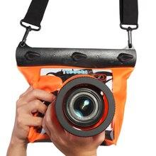 Подводные 20 м/65ft Дайвинг Корпус камеры Чехол сухой мешок Камера Водонепроницаемый сухой мешок для Canon Nikon Sony DSLR SLR GQ-518M