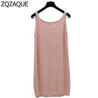 Hot Sale Women S Summer Loose Knit Tank Tops Casual 8 Colors Pure Color Cotton Long