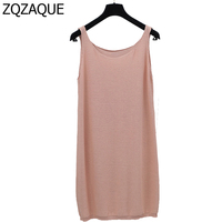 Hot Sale Women S Summer Loose Knit Tank Tops Casual 8 Colors Pure Color Cotton Long