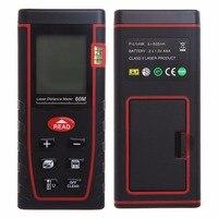 196f Laser Distance Meter Area Volume Calculation Range Finder Measurement Tool LCD Measure Laser Distance Meter