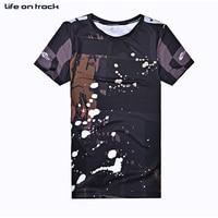 Random Black Jerseys 2016 Basketballs Sports Clothes Men Cycling Short Sleeves Printing Anti Pilling Breathable T shirts