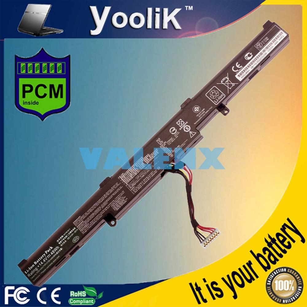 Laptop Battery A41N1611 For ASUS ROG GL553 GL553VW GL553VD GL553VE OB110-00470000 A41LK5H