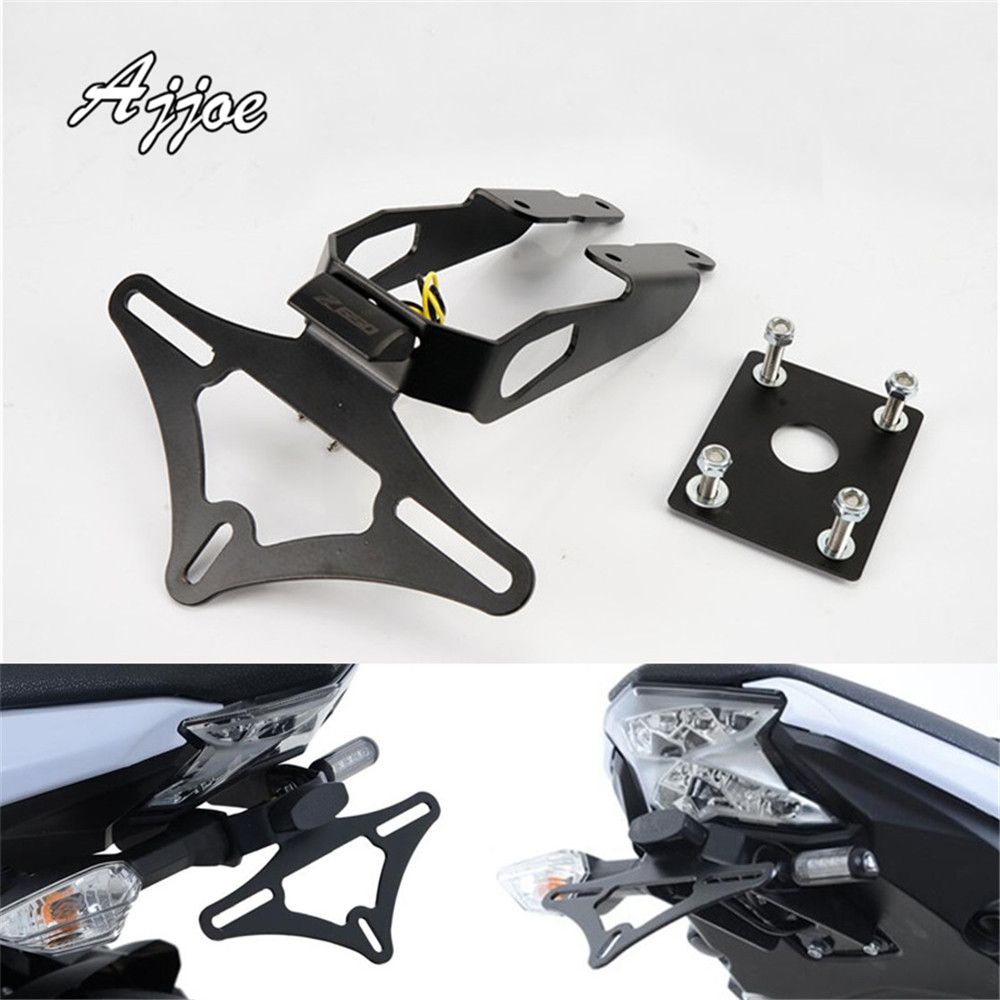 For Z650 Z 650 2017 Motorcycle License Plate Holder License Bracket Tail Tidy Fender Eliminator doit metal robot tank car chassis tracked vehicle track crawler caterpillar shock absorber robotics diy rc toy teaching platform