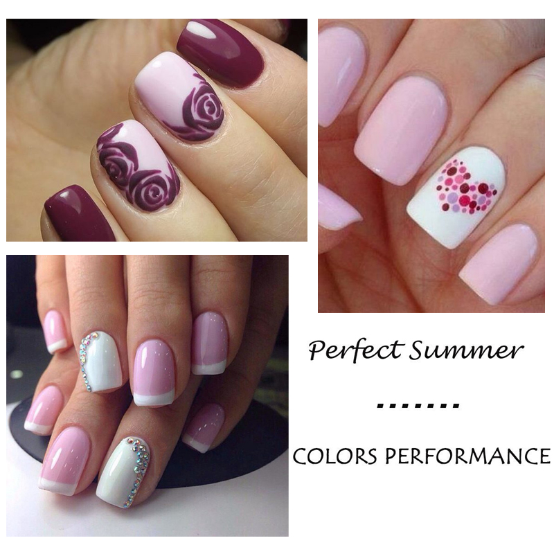 Perfect Summer Nail Gel Classic Pink Color Series UV Nail Gel Polish ...