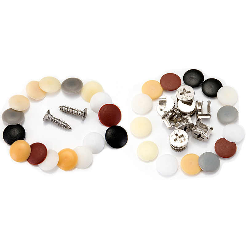 100pcs Practical plastic screws bolts cover plug Self-tapping Screws Exterior Protective Cap Furniture Hardware