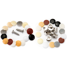 100pcs Practical plastic screws bolts cover plug Self-tapping Screws Exterior Protective Cap Furniture Hardware t k excellent practical tool box screws storage black simple portable tool storage box self tapping screws device plastic 1pcs