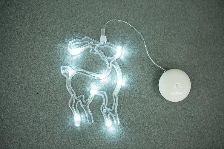 Jiaderui LED Xmas Dekoracyjne Nowy Rok Światła Świąteczne Deer - Oświetlenie wakacje - Zdjęcie 3