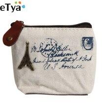 eTya Canvas Classic Retro Ladies font b Women b font Small Coin Purse Key Card Pouch
