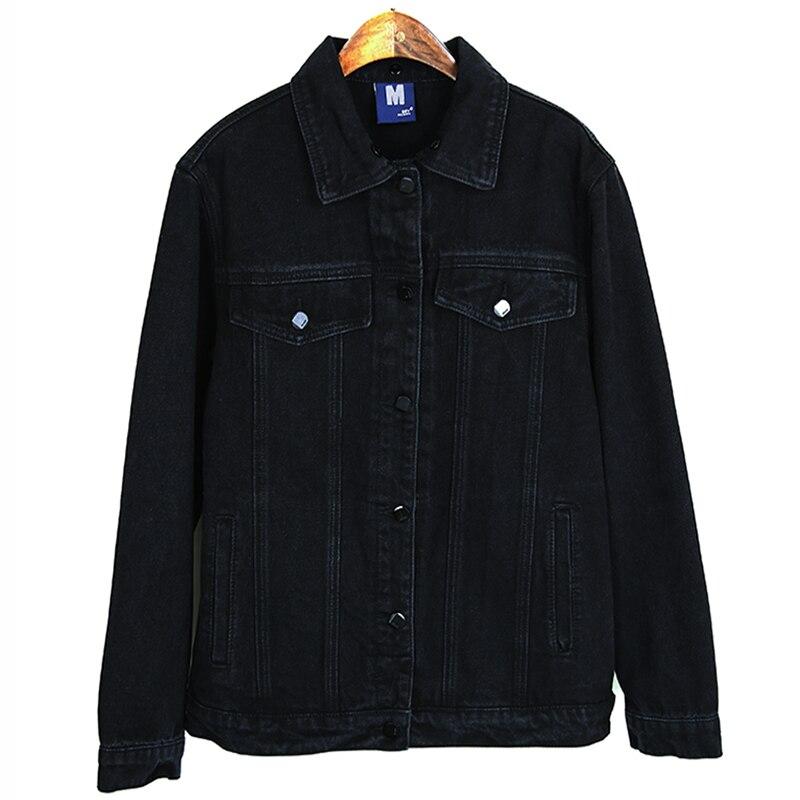 Lâche Amovible Qualité Noir Veste Jeans Outwear Denim Déchiré Casual Chapeau Filles Printemps Manteau Femmes 2018 Haute fvw5qw