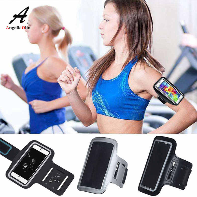For Samsung galaxy s8 s9 plus a5 j7 2017 j5 2016 note 9 8 s6 s7 edge a8 2018 BLACK Armband Arm Band Run Gym Phone Bag Case Cover