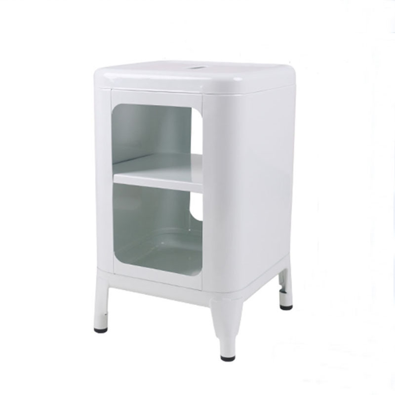 QIYU Modern Creative Metal Storage Cabinet End Table