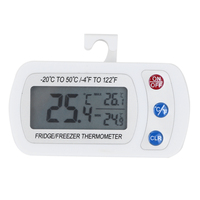 Waterproof Freezer Thermometer With Hook Button Battery LCD Digital Display Refrigerator Thermometers Function For Home Fridge