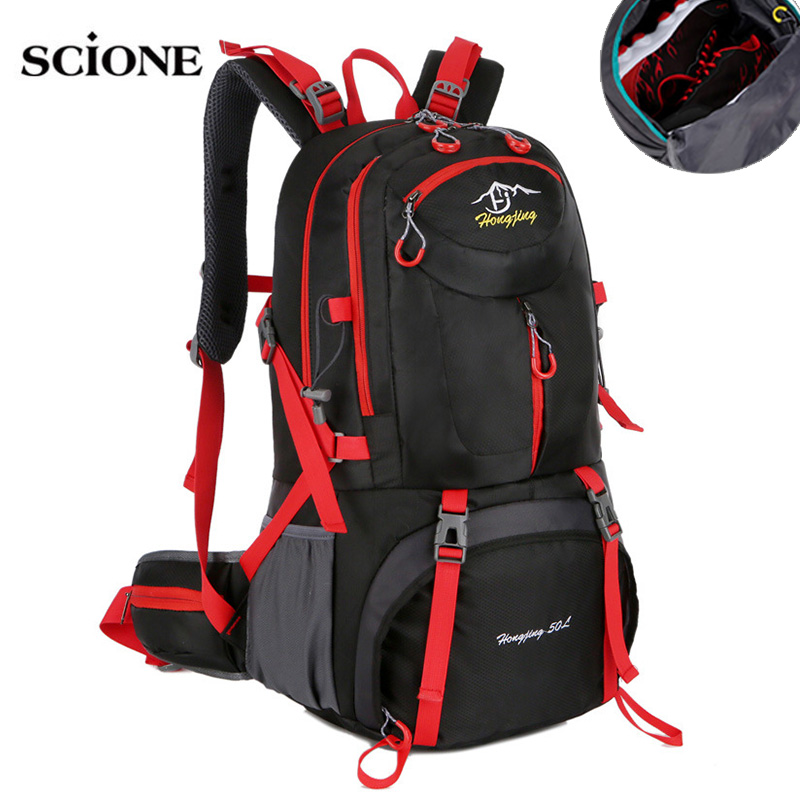 Backpacks 40L 50L 60LCamping Hiking Backpack Bag Outdoor Sports Bags Travel Waterproof Shoulder Men Climbing Rucksack XA564WA