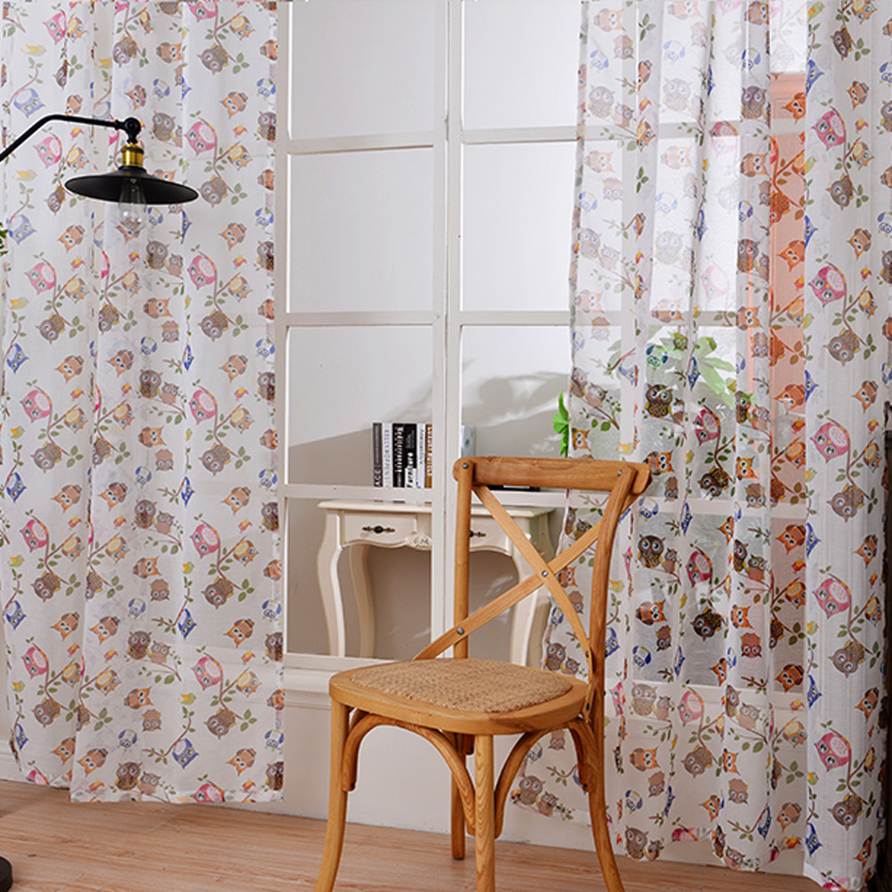 Charmant Transparent Voile Curtains Printing Animal Kitchen Sheer Valances Window  Curtain For Bedroom Living Room Owl Pattern  In Curtains From Home U0026 Garden  On ...