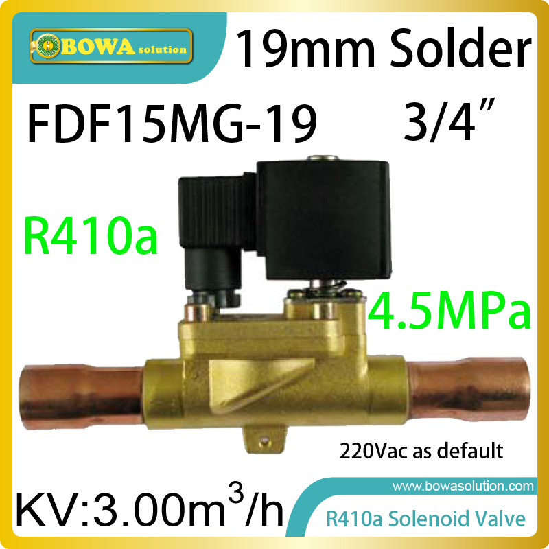 R410a freon solenoid valves can be installed on EVI branch line in air source heat pump water heater or air conditioners can be used as a vacuum pump or air