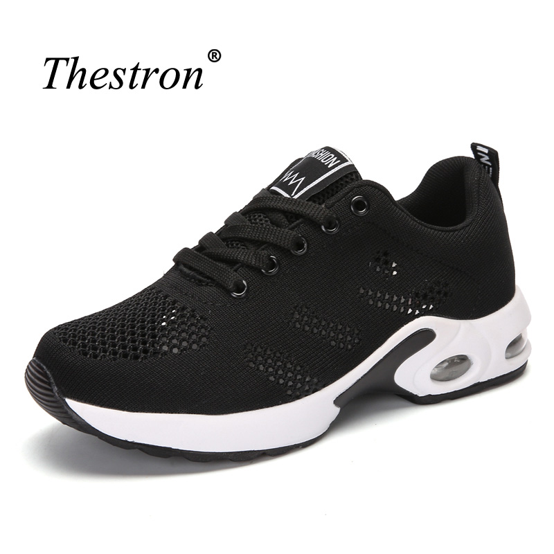 Women Running Shoes Black Red Athletic Footwear Female Breathable Man Sneakers for Sport Lightweight Anti-slip Track Shoes